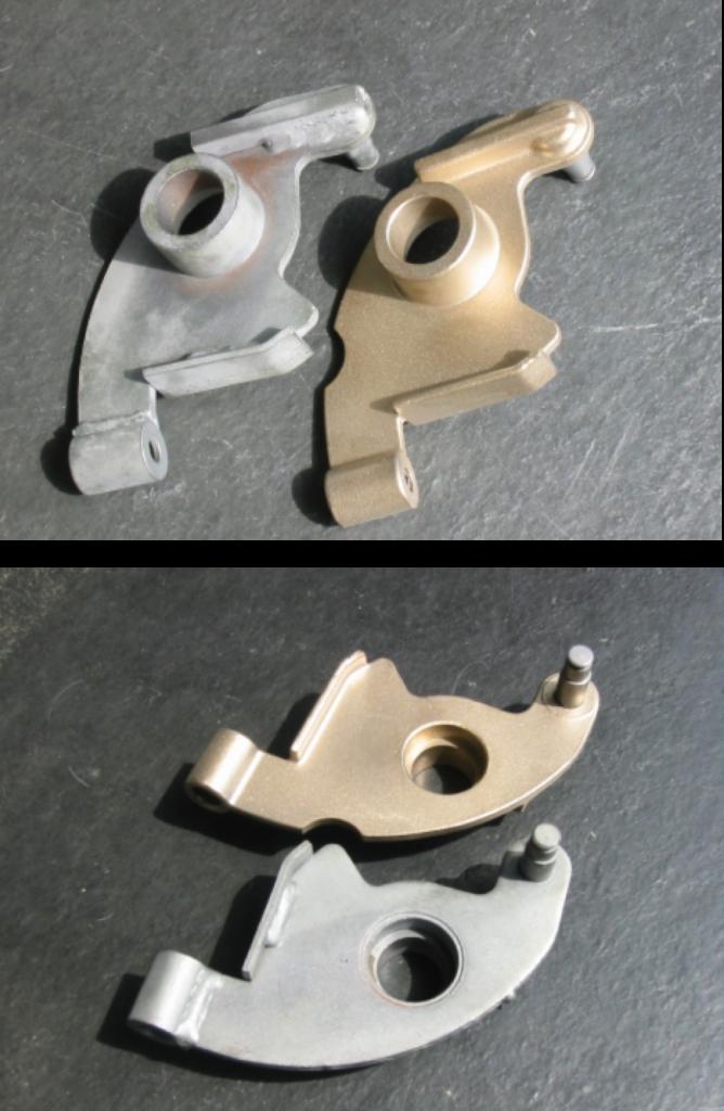 metal casting pieces set to precision